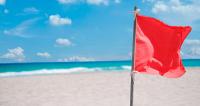 """Флаг красный """"Купание запрещено"""" Арт Opt"""