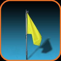 "Флаг желтый ""Купание разрешено"" Арт Opt"