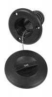 Горловина заливная для бензина, пластиковая, черная, под шланг 50 мм Арт Vdn 15063