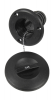 Горловина заливная для бензина пластиковая черная под шланг 50 мм Youthful Арт Vdn15063