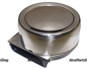 Горн электрический одиночный круглый из нержавеющей стали Арт CMG 310017