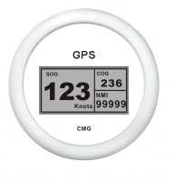 GPS-Спидометр цифровой белый с белой окантовкой WEMA Арт KMG 510058