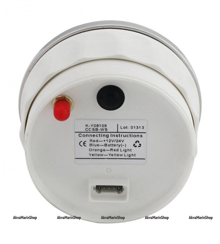GPS-Спидометр цифровой белый со встроенным GPS-приемником и выносной GPS-антенной WEMA Арт KMG 510058