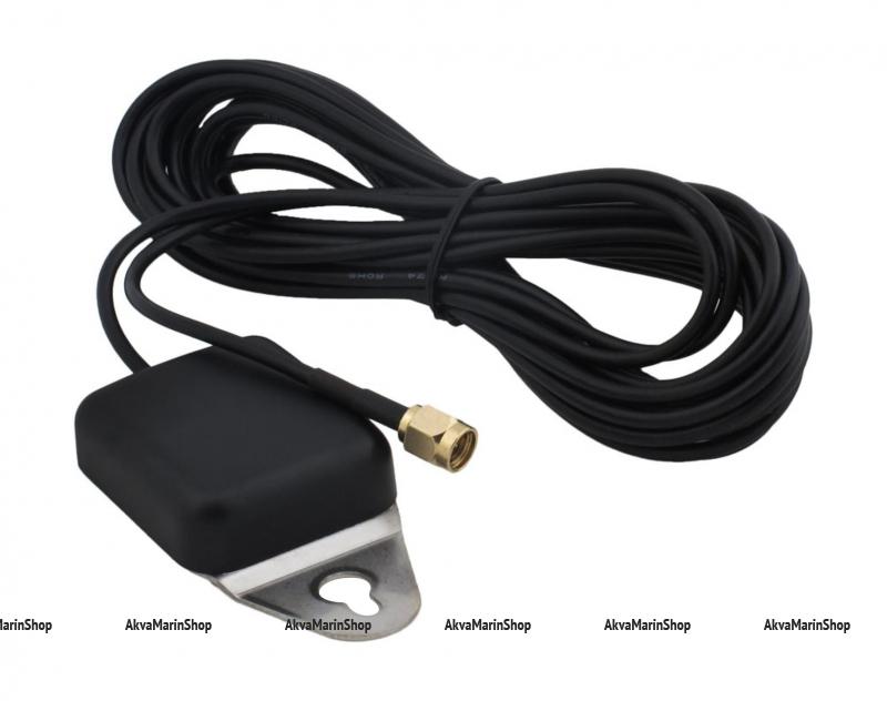 GPS-Спидометр цифровой черный со встроенным GPS-приемником и выносной GPS-антеннойй WEMA Арт KMG 510057