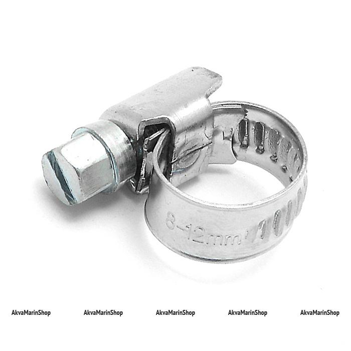 Хомут обжимной 8-12 мм нержавейка Арт CMG 410032