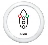 Индикатор включения ходовых огней белый с белой окантовкой WEMA Арт KMG 510033