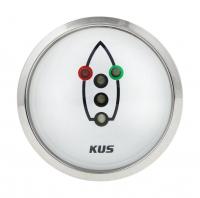 Индикатор включения ходовых огней белый с нержавеющей окантовкой KUS Арт VDNJMV00305_KY99501