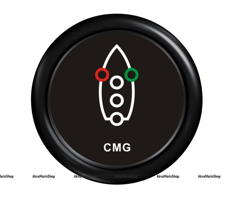 Индикатор включения ходовых огней черный с черной окантовкой WEMA Арт KMG510032