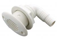 Клапан вентиляции топливного бака угловой диаметр 17-19 мм белый пластик Арт CMG 410221