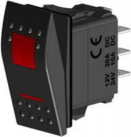 Клавиша трёхпозиционная красная (ВКЛ)-ВЫКЛ-ВКЛ CMG 310108
