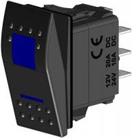 Клавиша трёхпозиционная синяя (ВКЛ)-ВЫКЛ-(ВКЛ) Арт CMG 310110