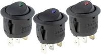 Кнопка вкл/выкл с индикатором синего цвета Арт CMG 310049