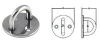 Кольцо монтажное с круглым основанием (серьга) диаметром 40 мм Арт CMG210042
