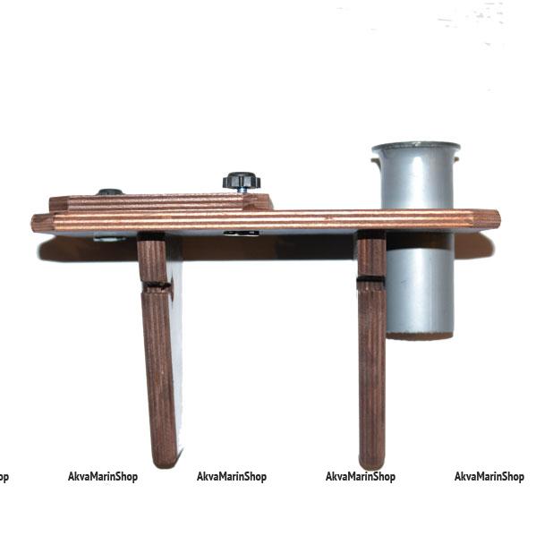 Компактный столик для эхолота с держателем для спиннинга на борт лодки Арт TB4