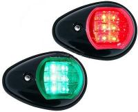 Комплект бортовых навигационных огней светодиодных в чёрном корпусе Арт CMG900050