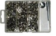 Комплект кнопок для тента с клепальником нержавеющая сталь 101 ед. Арт CMG710124