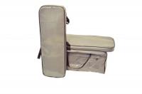 Комплект мягких накладок и сумка для лавки лодки пвх серый 95х25 см Арт Flc