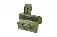 Комплект мягких накладок и сумка для лавки лодки пвх зеленый 95х25 см Арт Flc