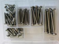 Комплект саморезов для катера - 68 ед. нержавеющая сталь Арт CMG710114