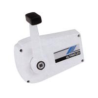 Контроллер совмещенного управления газом/реверсом с фиксатором режима холостого хода, белый алюминиевый корпус B89 (ULTRAFLEX, Италия) Арт Tm 36151G