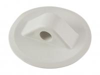Крепление леера круглое белое диаметром 78 мм с отверстием 12 мм для приклейки на ПВХ Vdn WDL-K5