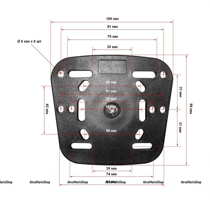 Крепление под эхолот или навигатор в комплекте с CFMT303 Арт Vdn CFKP106