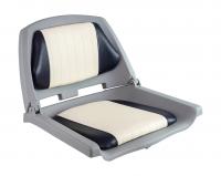 Кресло мягкое складное бело-синее Easterner Арт Vdn C12504G