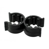 Кронштейн для фиксации трапов двойной 18/25 мм, пластмасса Арт Tm 45217