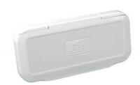 Крышка магнитолы брызгозащитная белая 111х235 мм Nuova Rade Арт CMG 210018