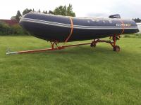 Легкий складной прицеп-тележка для лодок ПВХ Арт Tnr
