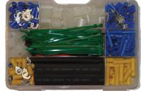 Монтажный комплект для электрооборудования 338ед (клеммы, термоусадка) Арт CMG 310044
