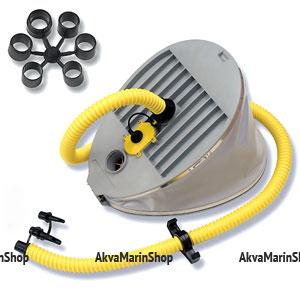 Ножной насос двухкамерный высокого давления Bravo 9 с объемом камер  6,5 литра и 1,5 литра Арт Bdr 6090009