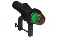 Огонь ходовой красный и зеленый светодиод на струбцине на батарейках Арт CMG 900015