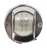 Огонь кормовой круглый с лампой накаливания с корпусом из нержавеющей стали Арт Vdn C12496