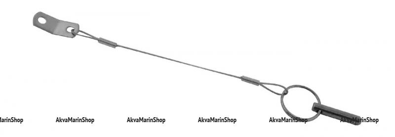 Палец  стопорный 34 мм с тросиком  152 мм Арт Vdn MH30_KOF