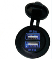 Панель для USB круглая с двумя разъёмами Арт CMG 310132
