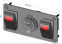 Панель с двумя клавишами и розеткой прикуривателя Арт CMG 310156