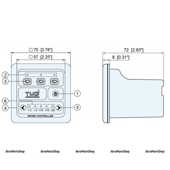 Панель управления стеклоочистителями Арт Tm TMC-2240501