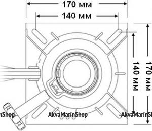 Переходник под сиденье на стойку диаметром 60 мм Springfield 3100031-1 CMG710279