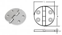 Петля круглая 64х64х4 мм. (нерж) Арт CMG 710057