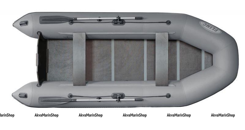 Плоскодонная транцевая надувная лодка FLINC FT360L