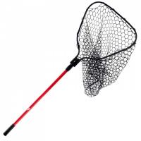Подсачник рыболовный с сеткой из прочной эластичной резины, ручка длиной 86-137 см Арт Bdr GRT-102