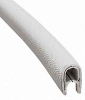 Профиль окантовочный серый 3-6мм армированный ПВХ 1 метр Арт Skipper PVC STRIP G