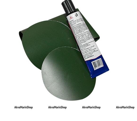 Ремкомплект для лодок пвх, цвет зеленый Арт Ptr