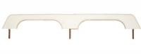 Ручка двойная пластиковая белая 7х2х57см Арт CMG 710137