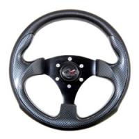 Рулевое колесо 300 мм Zeta с ободом из черного полиуретана (под кожу) Multiflex Арт KMG 613029
