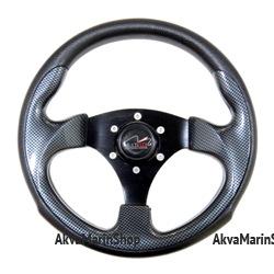 Рулевое колесо 300 мм Zeta с ободом из черного полиуретана (под кожу) Multiflex Арт KMG613029