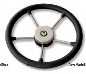 Рулевое колесо 325 мм с нержавеющими спицами с ободом из полиуретана Riviera Арт KMG613002