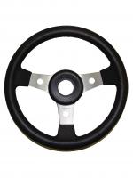 Рулевое колесо 350 мм алюминиевые спицы с черным термопластиком Mavimare Арт KMG 613009