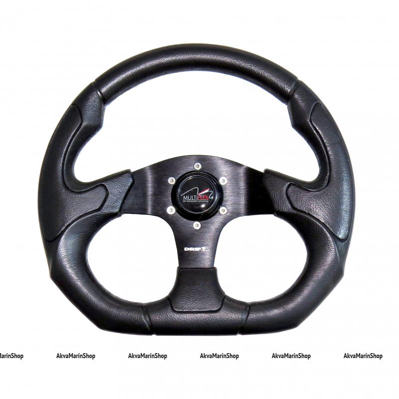 Рулевое колесо 350 мм Gamma с ободом из черного полиуретана (под кожу) Multiflex Арт KMG613026